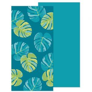 Toalla bano para playa diseño de hojas 78x160Cm